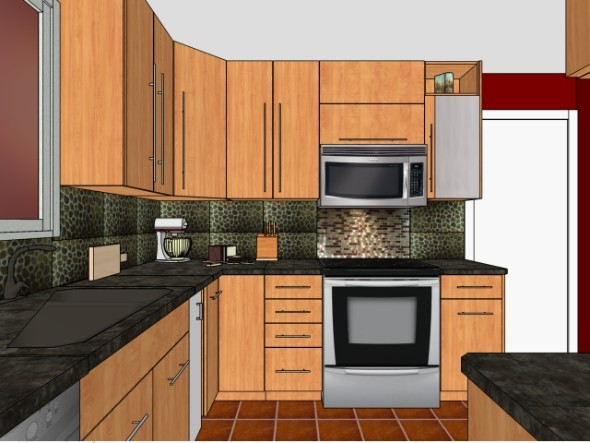 Brown 39 S Custom Kitchens 3D Kitchen